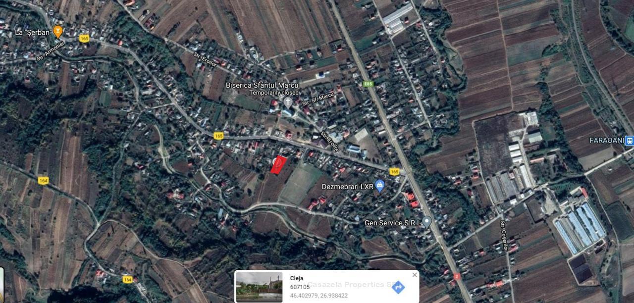 Teren intravilan arabil 1.328 mp, Cleja, Jud. Bacau
