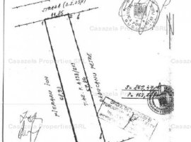 Teren intravilan in suprafata de 869 mp, situat in Stefanestii de jos, Str. Fagaras, jud. Ilfov