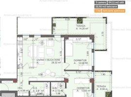 Apartament 3 camere +  Ansamblul cu Piscina