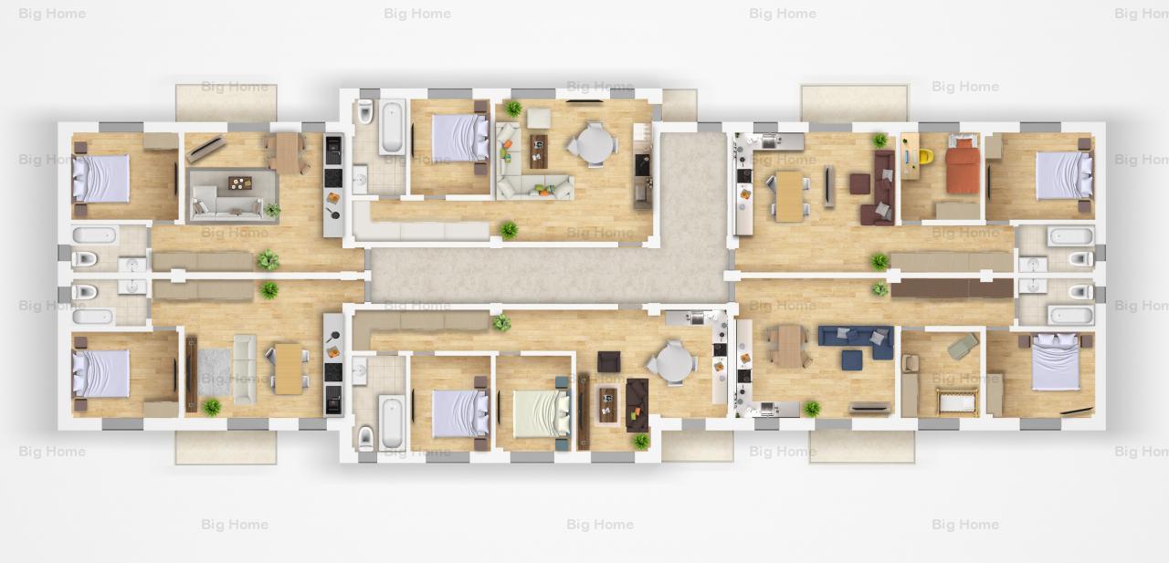 Apartamente 2 camere-TE POTI MUTA CHIAR ACUM