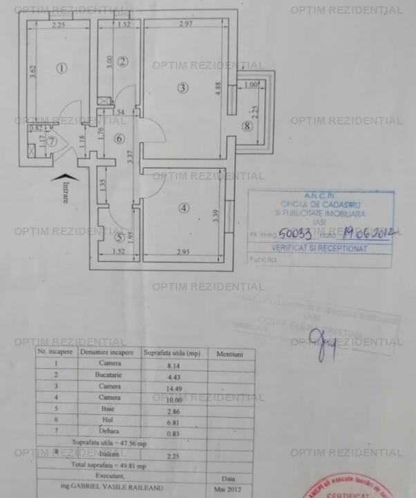 Persoana fizica, Ap 3 cam D, etaj 2, Pacurari