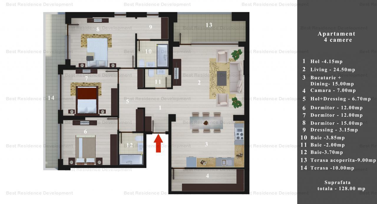 Ocazie unica!!! Apartament 4 camere  in zona Pipera/Baneasa