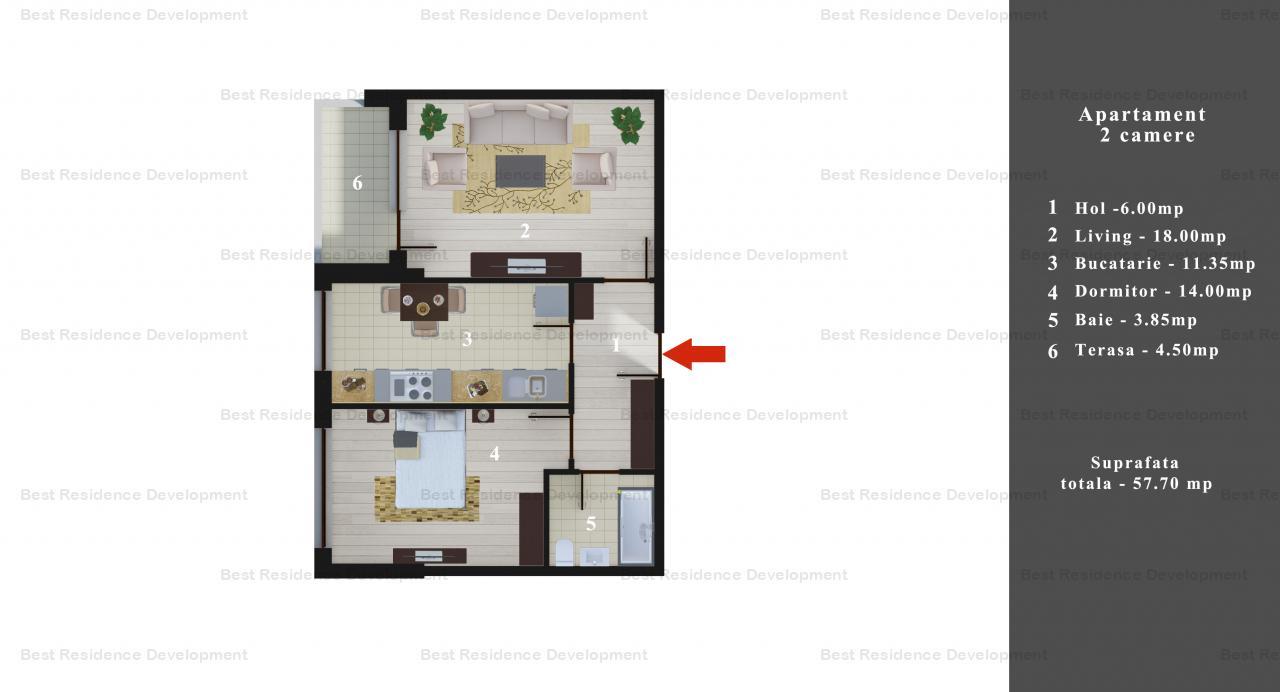 Merita vazut! Apartament 2 camere si curte proprie  zona Pipepa