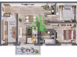 Apartament cu trei camere si balcon La CHEIE in Selimbar