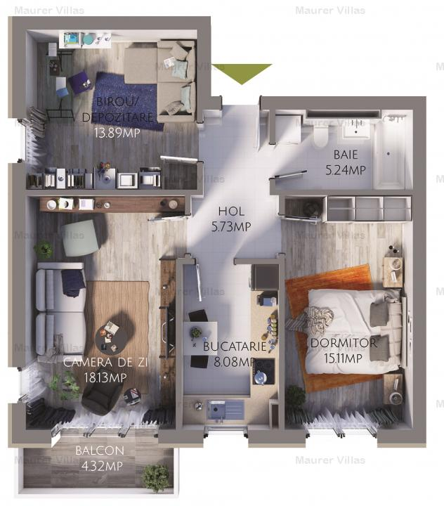 Apartament 2.5 camere de vanzare, Maurer Villas Brasov