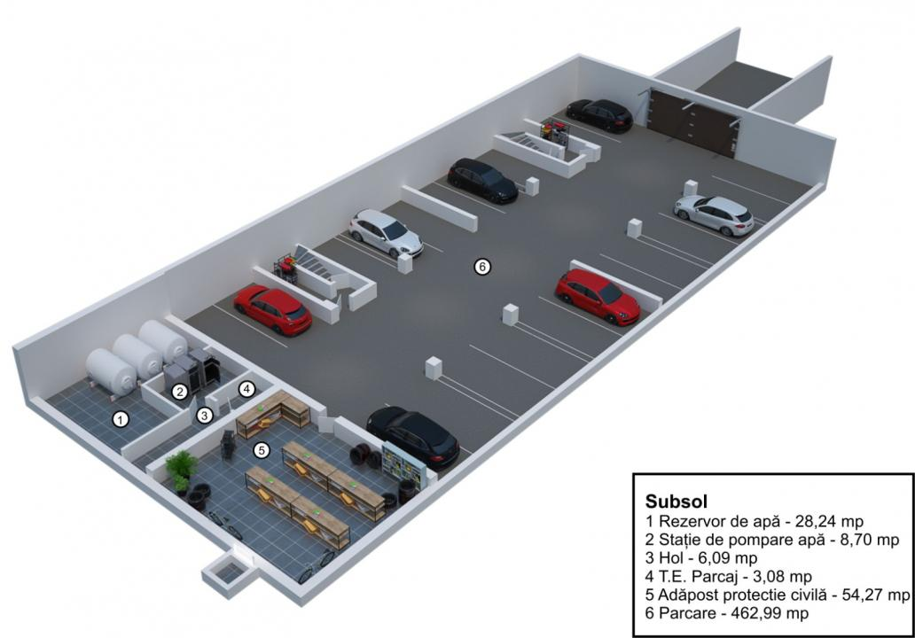 Apartament 3 camere decomandate cu gradina in Velvet Residence Turnisor