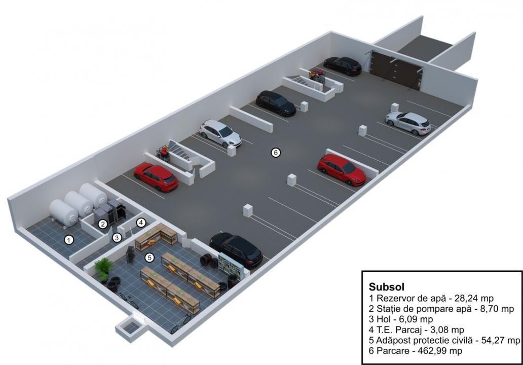 Apartament 3 camere decomandate cu gradina Velvet Residence Turnisor
