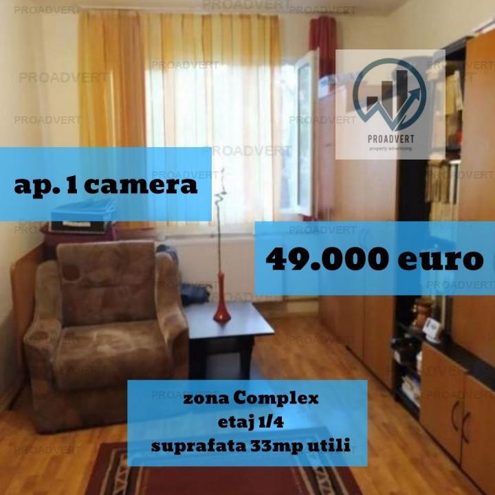 Apartament cu o camera, confort unu, zona excelenta