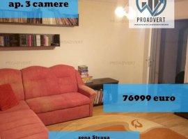 Apartament spatios, trei camere, zona Steaua