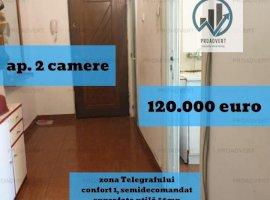 Oportunitate excelenta, apartament doua camere, zona Telegrafului