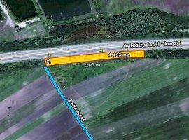 Teren 4490 mp cu deschidere pe Autostrada A1 km26 Ulmi
