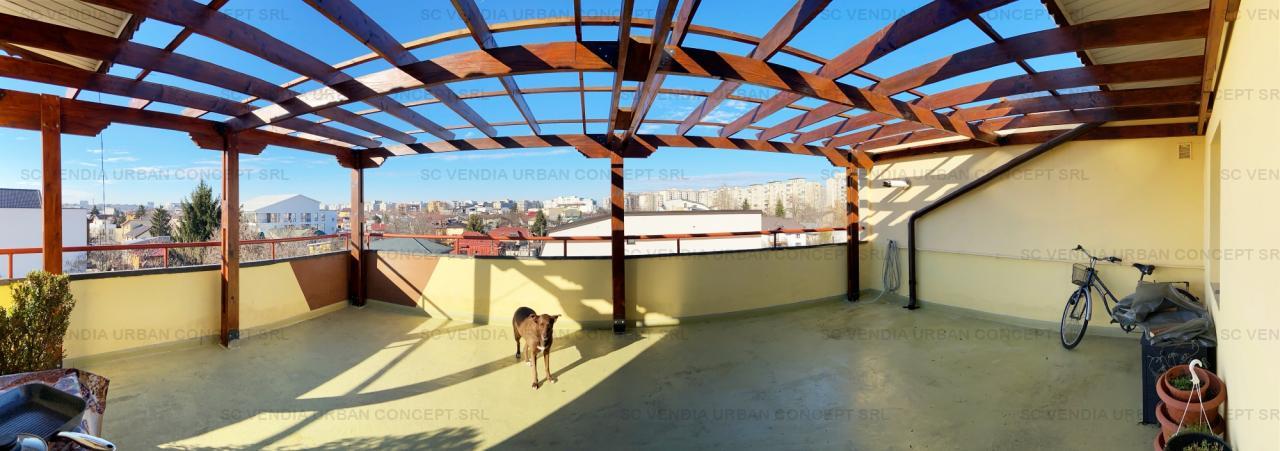 Apt penthouse, 4 cam, 110mp utili si 2 terase 34mp si 48mp, et 3/3, bloc 2005