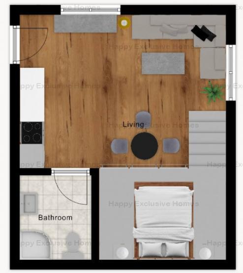 Doamna Ghica | Studio | Imobil Nou | Parc Plumbuita |