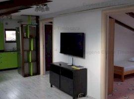 Apartament 75mp 2 dormitoare, 1 linving 1 bucatarie, Aer conditionat