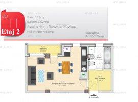 Garsoniera | Open space | BLOC NOU | Zona Prelungirea Ghencea