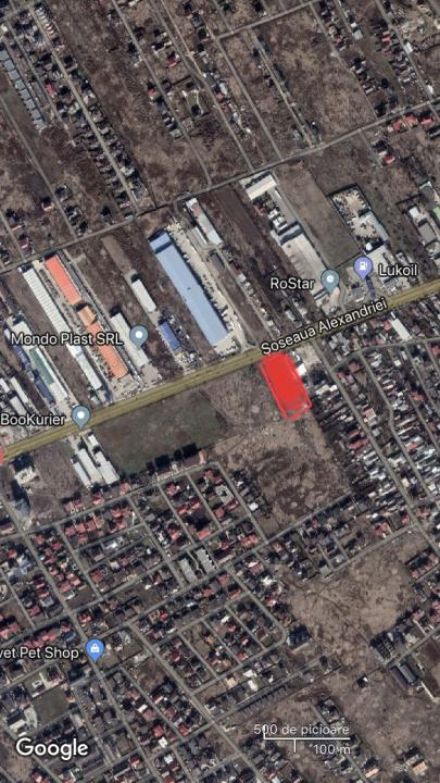 Soseaua Alexandriei stradal, vis a vis de Rostar, 4800mp, 50ml deschidere, PUZ