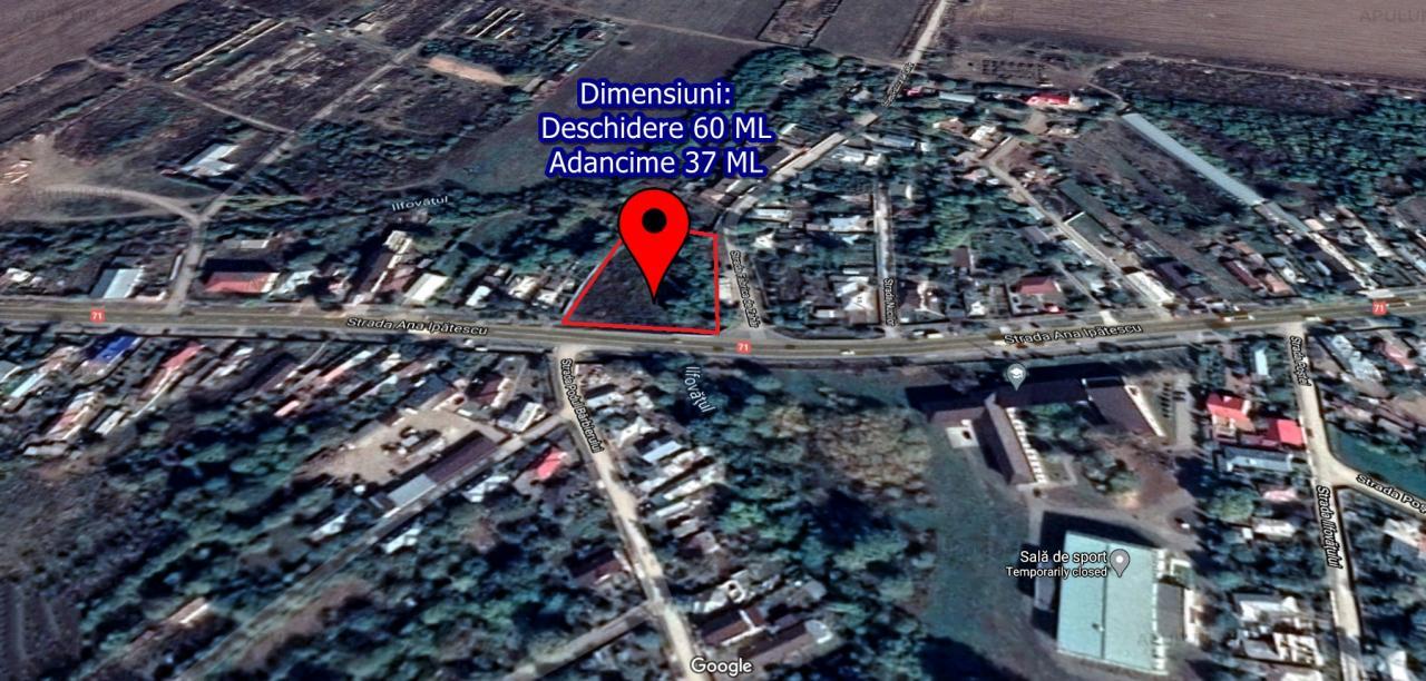Teren 2100MP - 60ML deschidere la drumul principal in Racari Dambovita