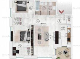 Apartament 3 camere, vedere spate, et 8/9, Complex 102 The Address, Comision 0%