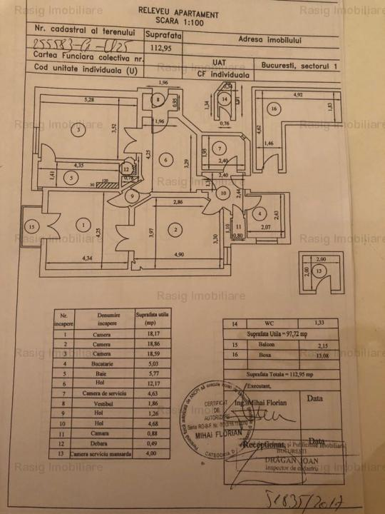 3 Camere zona Calea Victoriei