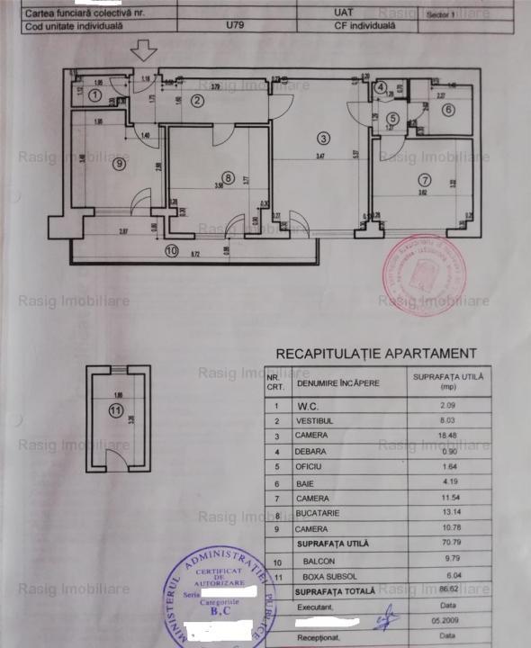 Apt 3 camere Ion Mihalache - Averescu