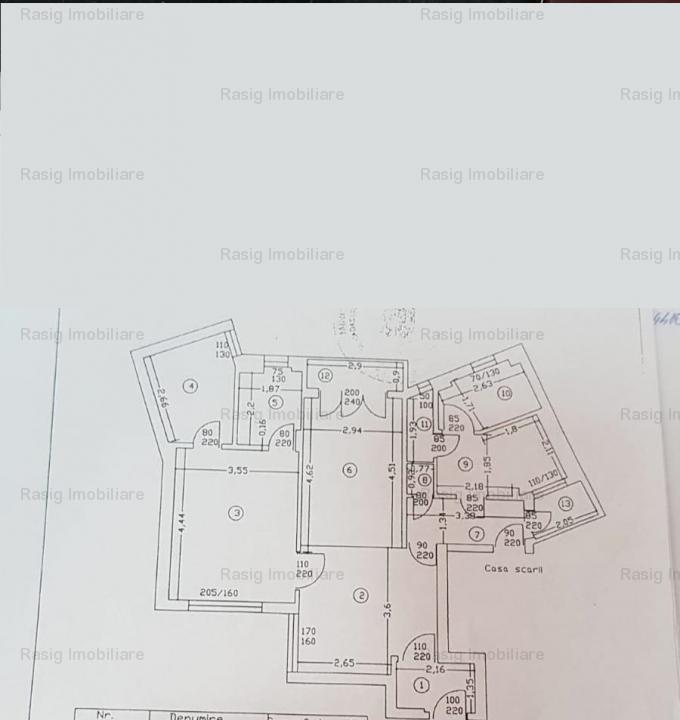 3 camere zona Universitate