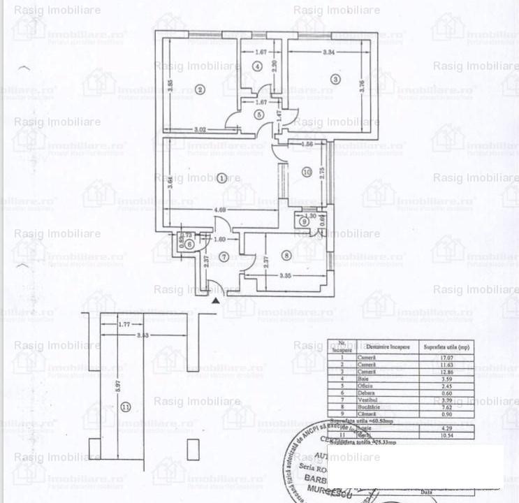 Vanzare apartament  zona Domenii