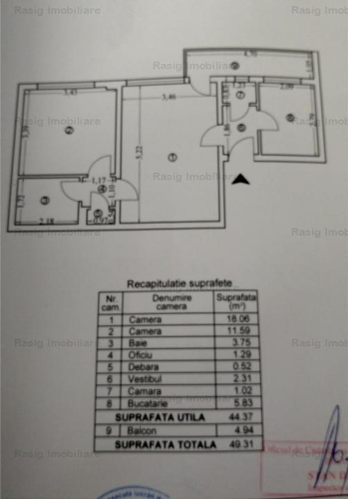 Vanzare apartament 2 camere Ion Mihalache.