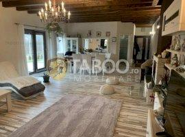 Vila de lux cu 5 camere curte si lac de inchiriat in Cisnadioara