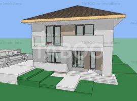 Casa individuala de vanzare cu 560 mp teren liber in Cisnadie Sibiu