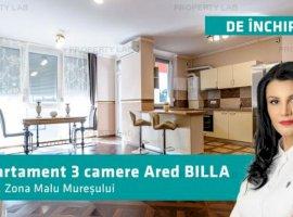 Prima închiriere, apartament 3 camere Ared Billa