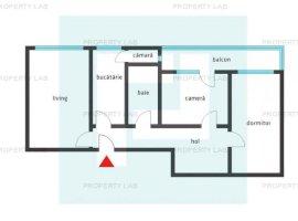 Apartament 3 camere, zona Lebăda, Preț REDUS!