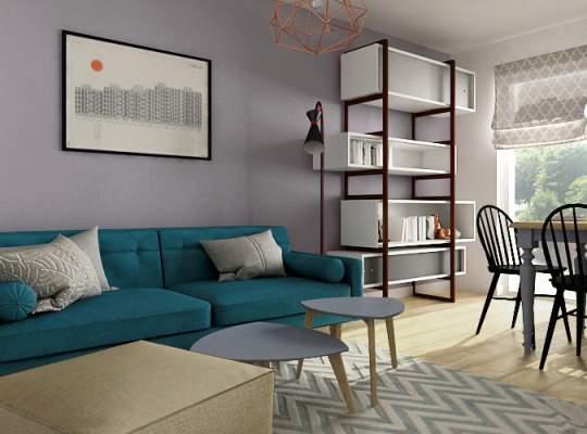 Amenajare armonioasa intr-un apartament de doar 42 mp utili