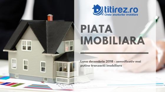 Luna decembrie 2018 - semnificativ mai putine tranzactii imobiliare