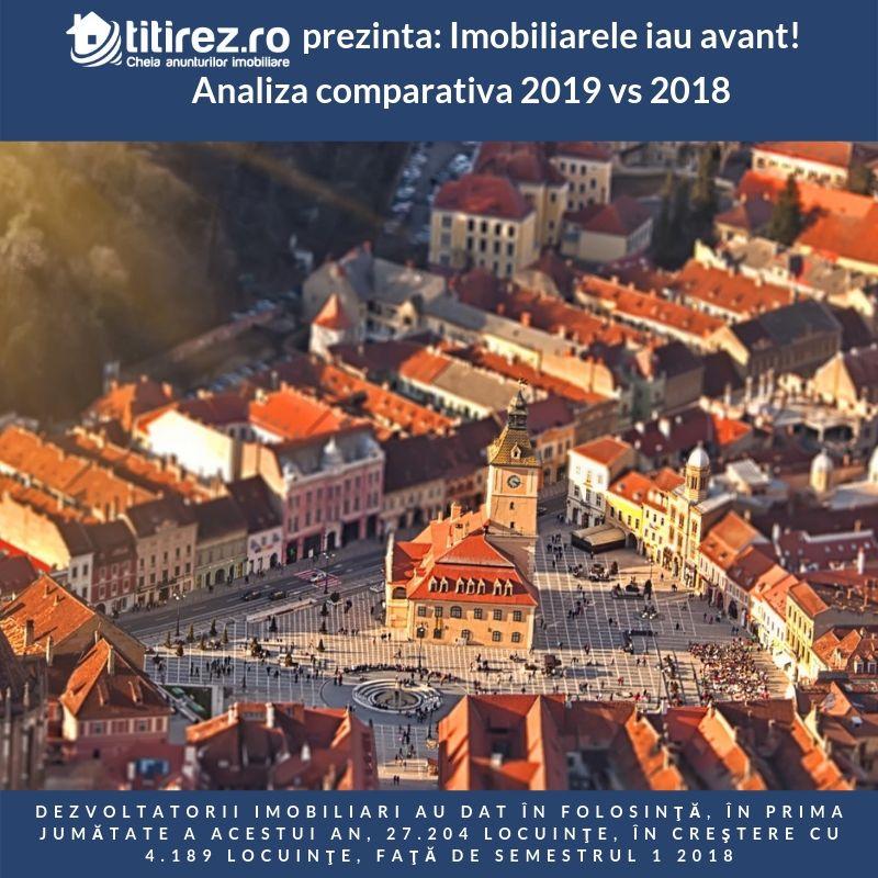 Imobiliarele iau avant! Analiza comparativa 2019 vs 2018