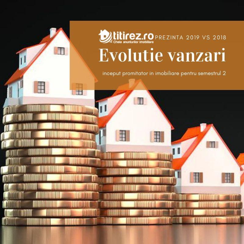 2019 vs 2018 - Evolutie vanzari semestrul 1, inceput promitator in imobiliare pentru semestrul 2