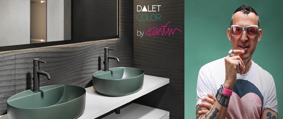 Designerul Karim Rashid semnează colecția de obiecte sanitare DALET Color din portofoliul Delta Studio